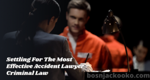 Settling For The Most Effective Accident Lawyer - Criminal Law
